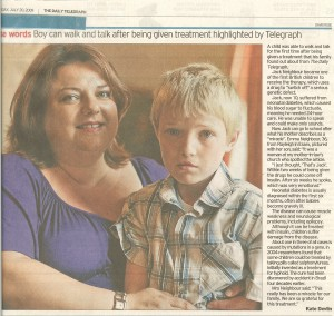 Jack's Story in the London Telegraph