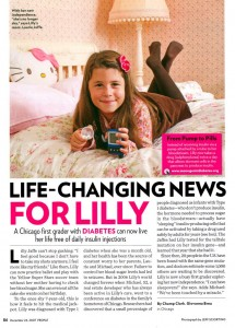 Life-Changing News for Lilly, People Magazine, 2007