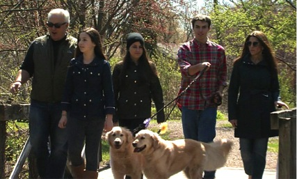 The family, Mike, Charlotte, Lilly, Nathan, Laurie and Goldie and Sweet Pea