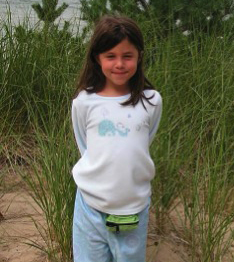 Lilly Jaffe, age 6 (last photo before disconnecting her insulin pump)